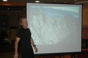 Zelo zanimivo predavanje gorskega vodnika in alpinista Janeza Kavčiča o izletih v gore smo imeli v restavraciji Fabula, kjer so nas pogostili z izvrstno hrano.