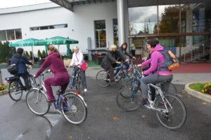 Začetek kolesarske poti v Radencih
