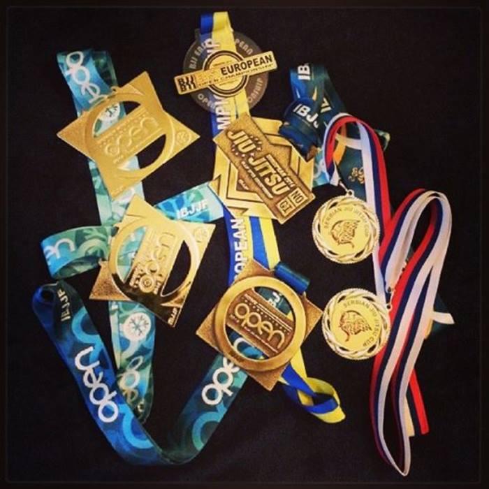 BJJ - medalje po treh mesecih treninga