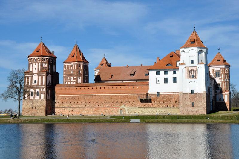 Belorusija - turistična znamenitos, grad Mir