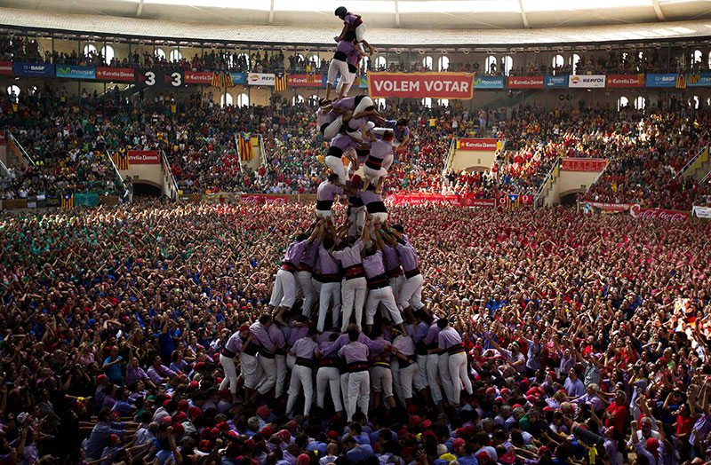 Španski človeški stolp