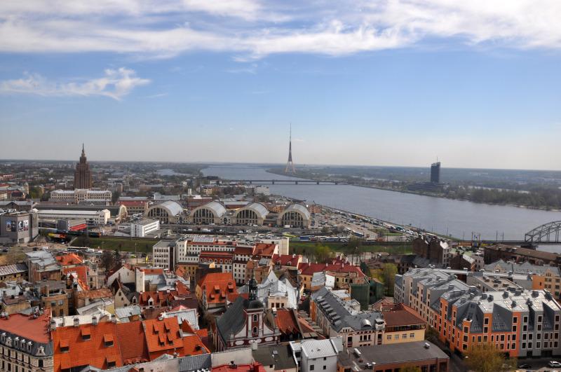 Latvija - Riga, pogled z razglednega stolpa