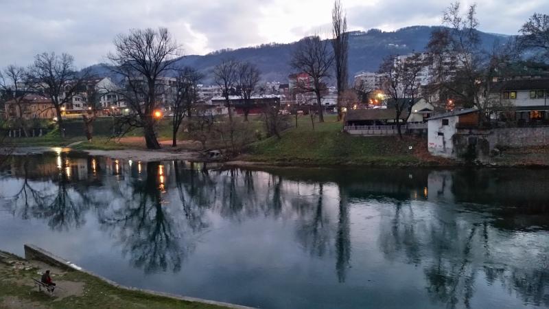 Silvestrovanje v Banja Luki - reka Vrbas
