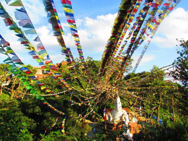 Nepal - tibetanske molilne zastavice