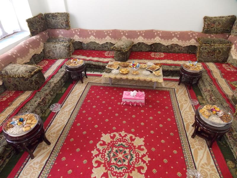 Jemen - dnevna soba v jemenskem domu