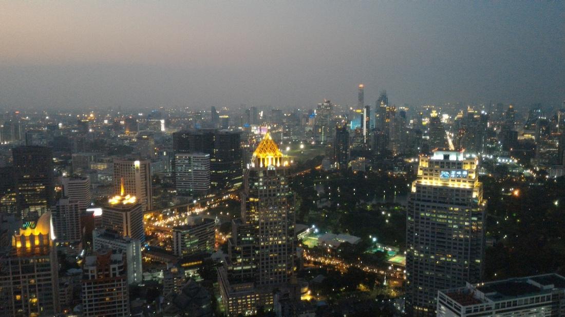 Bangkok, sončni zahod