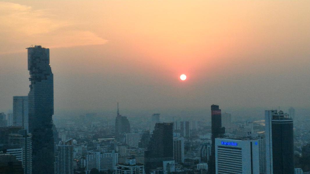sončni zahod, Bangkok