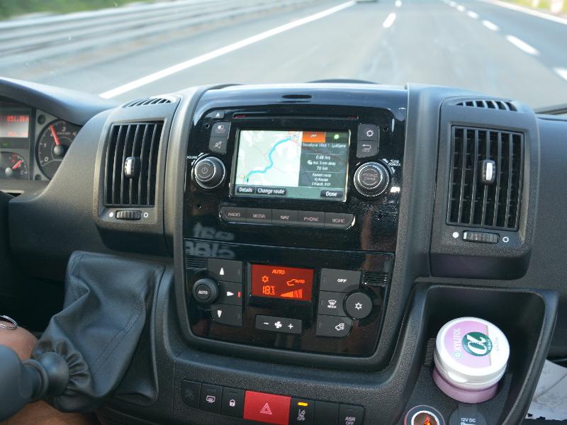 nadzorna plošča avtodoma