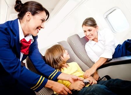 z otrokom na letalo