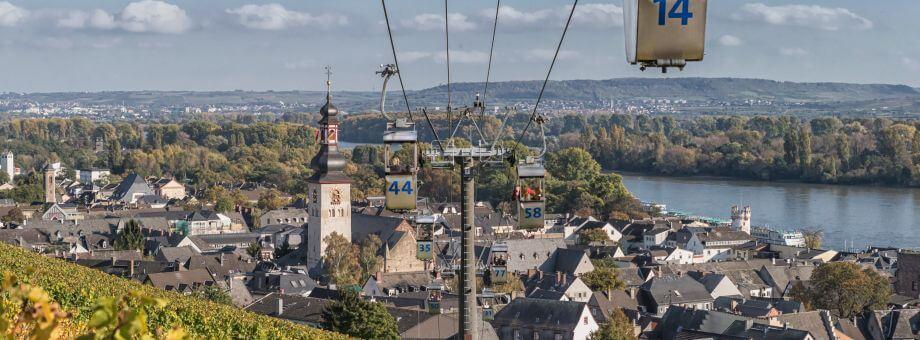 Rüdesheim - pogled na stari del mesta