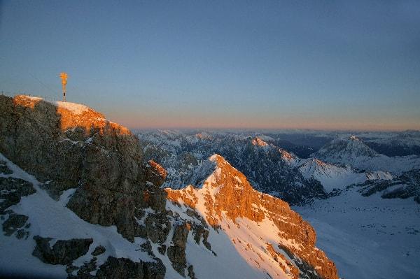 Vrh gore Zugspitze