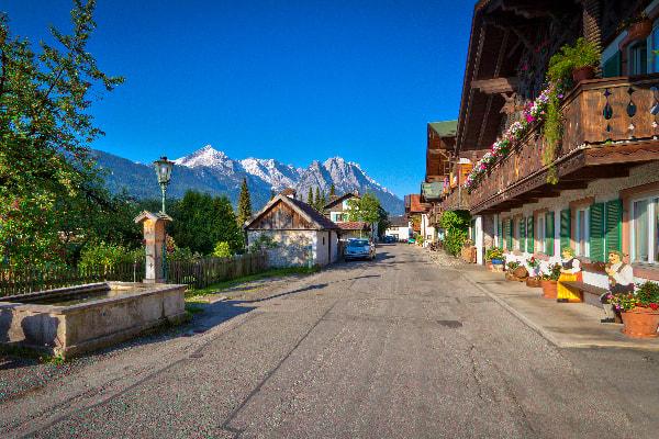 Historična cesta v Garmischu