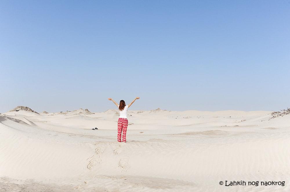 Bela puščava Sugar Dunes- Oman