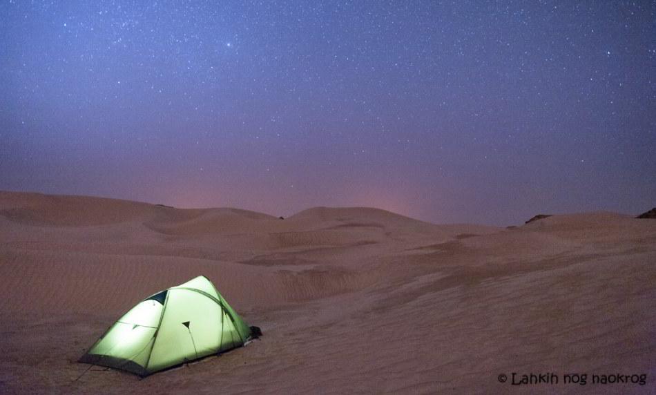 divje kampiranje v puščavi- Oman