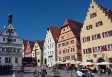 Utrip z osrednjega trga v Rothenburgu